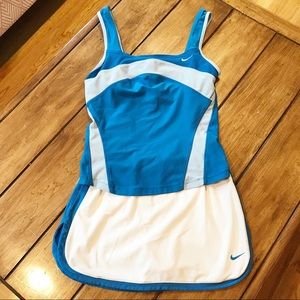 NIKE DRI-FIT Tennis Outfit Blue